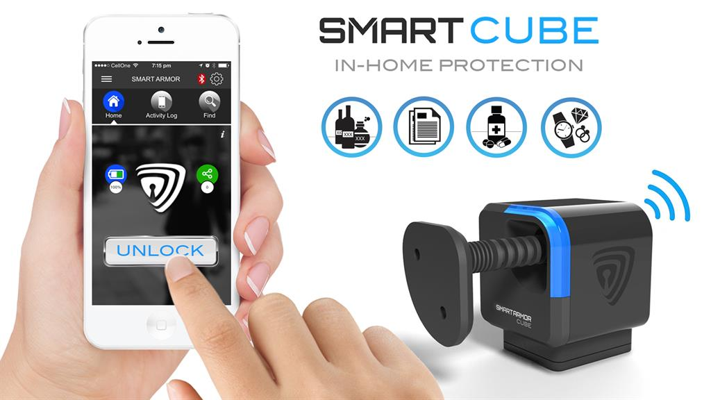 Smart Cube Works By Being Secured To The Inner Wall Of A Drawer Or Cabinet Locking Connector Is Then Attached Door And When Device In
