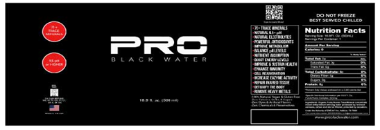 EarthWater Launches a New Brand ''PRO Black Water
