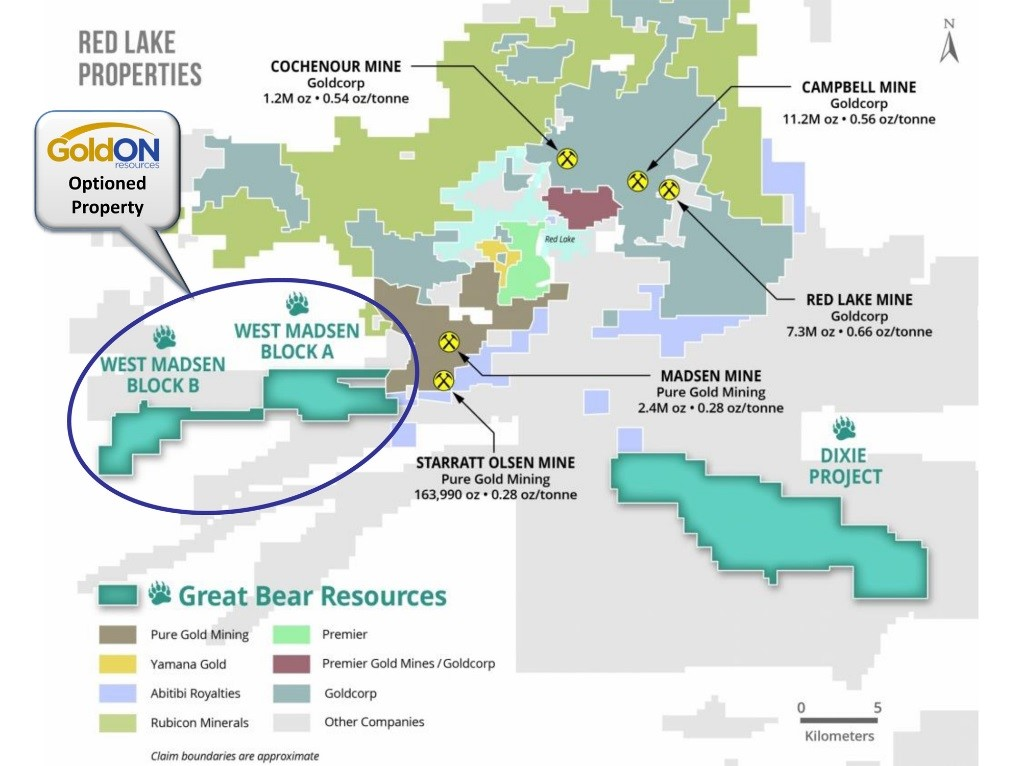 GoldON Resources Signs Definitive Agreement with Great Bear