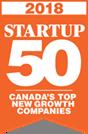 2018 Startup 50 logo - orange
